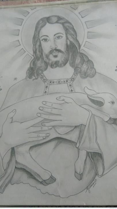Wonderful Pencil Sketch Of Jesus Christ Free Great Pencil Sketch Of Jesus Christ | Desipainters Photos