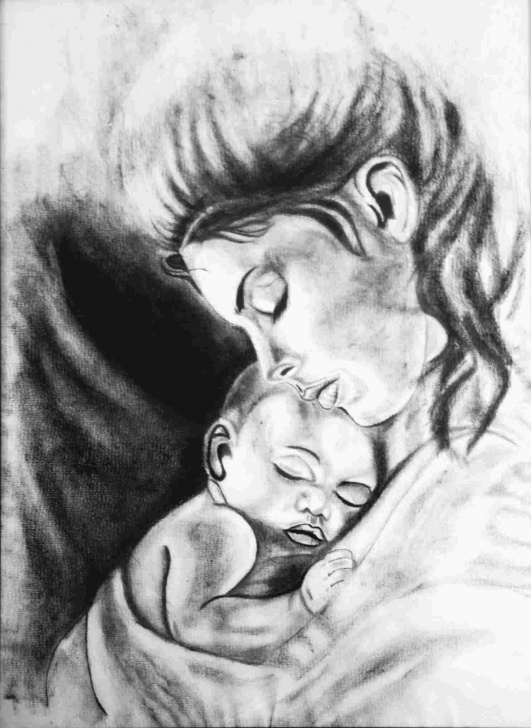 Wonderful Pencil Sketch Of Mom Techniques for Beginners Sketch Mom And Baby Drawing Pictures