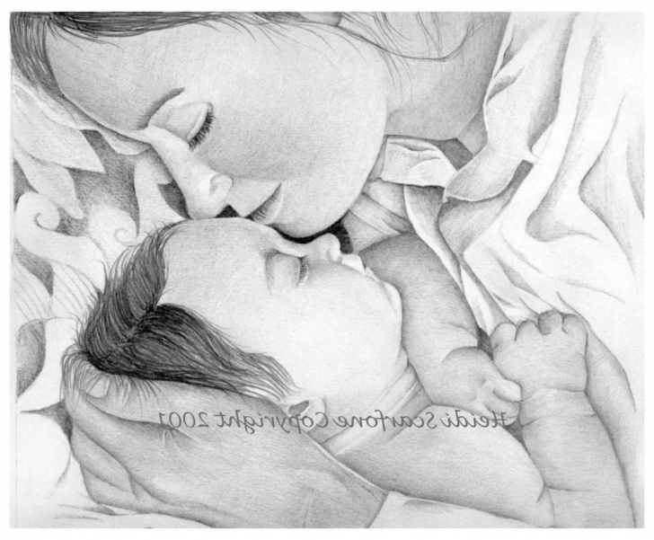Wonderful Pencil Sketches Of Mother And Daughter for Beginners Sketch Of Mother And Baby At Paintingvalley | Explore Collection Picture