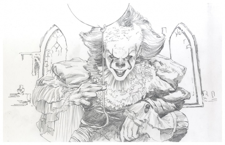 Wonderful Pennywise Pencil Drawing Courses It - Pennywise Pencil Print 13 Image