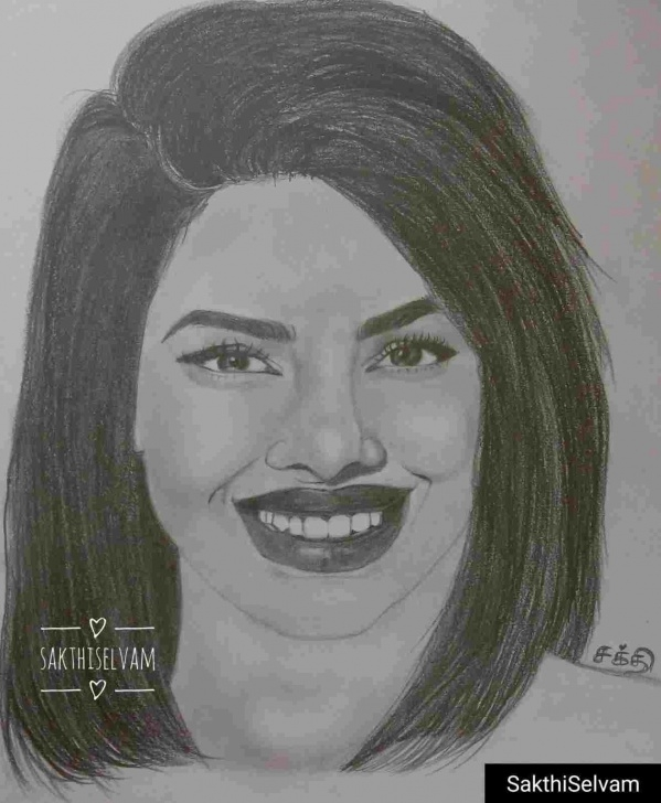 Wonderful Priyanka Chopra Pencil Sketch Techniques Pencil Sketch Of Priyanka Chopra Photo