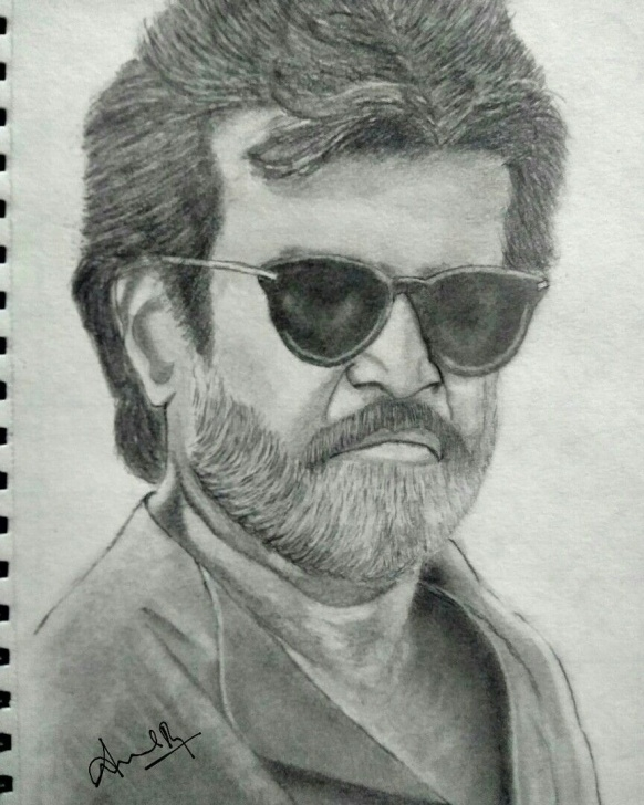 Rajinikanth Pencil Drawing