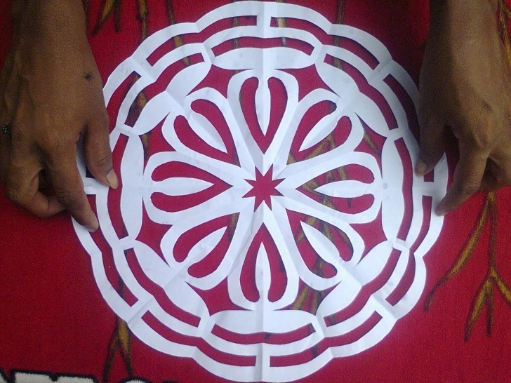 Wonderful Rangoli Design Stencils Online Step by Step Designs For Painting On Floor Using Paper Cuttings | Paper Patterns Image