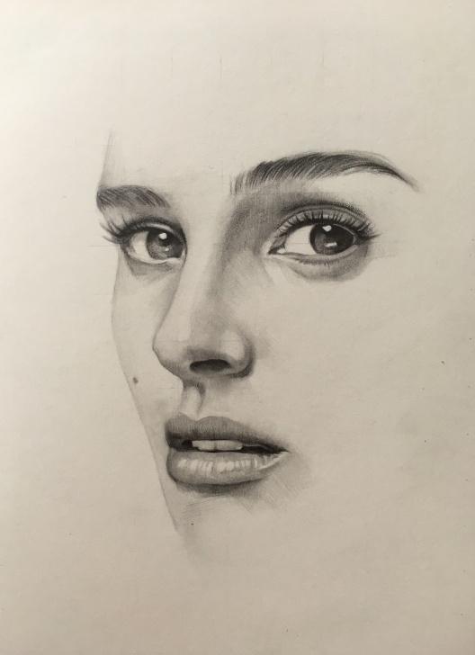 Wonderful Realistic Pencil Sketch Simple Pencil Portrait Mastery - Natalie Portman Pencil Drawing By Jahun Ku Pics