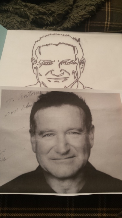 Wonderful Robin Williams Stencil Courses Artist Intervention Project: Photo Timeline Of Robin Williams Image