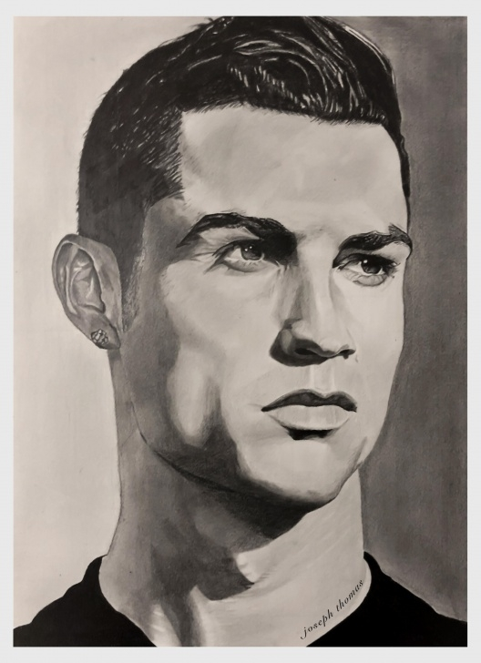 Wonderful Ronaldo Pencil Sketch Techniques for Beginners Cristiano Ronaldo, A3 Size, Pencil Drawing : Drawing Photos