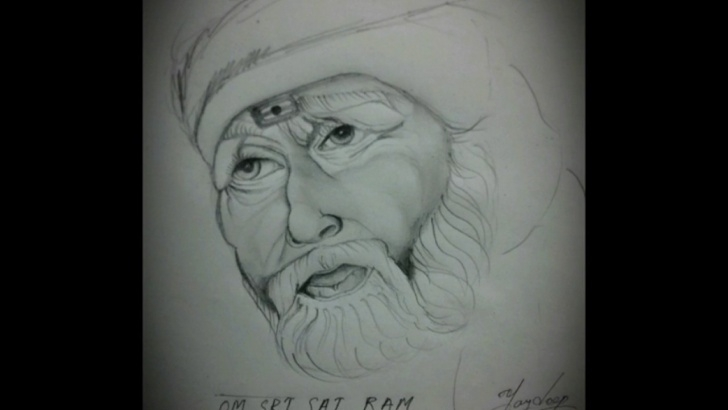Wonderful Sai Baba Pencil Sketch for Beginners How To Do Pencil Shading (Sai Baba) Image
