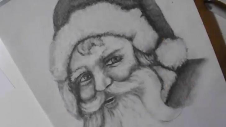 Wonderful Santa Pencil Drawing Lessons Pencil Drawing Photos