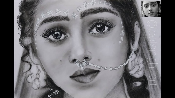 Wonderful Serial Radha Krishna Pencil Sketch Free Drawing Mallika Singh As Radha ( Radhakrishna | Star Bharat ) Pics