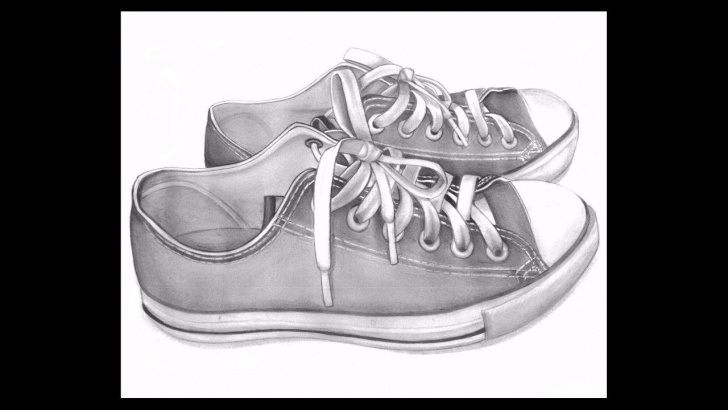 Wonderful Shoe Pencil Drawing Techniques Realistic 3D Shoes Drawing With Pencil Pictures