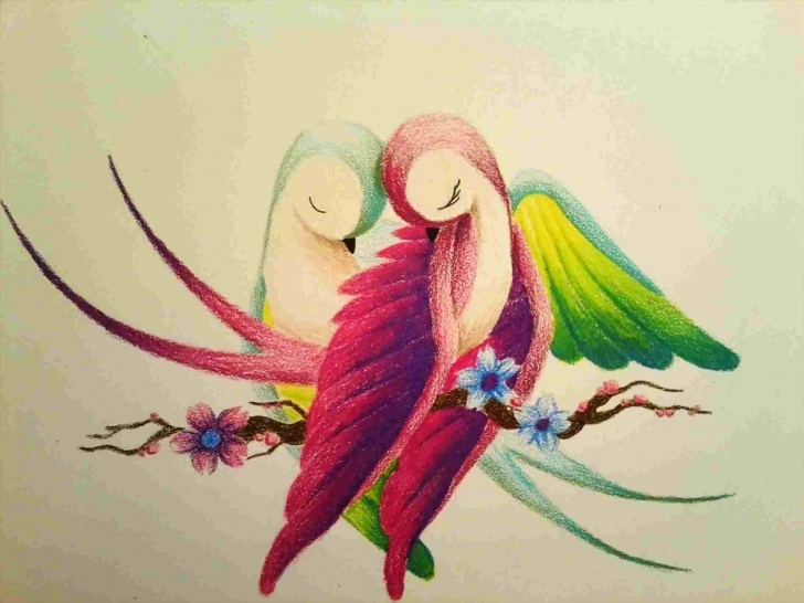 Wonderful Simple Colour Pencil Drawing Tutorials Easy Simple Colour Pencil Drawing   Drawing Work Images