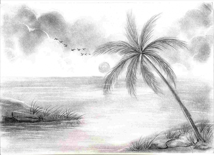 Wonderful Simple Landscape Sketch Lessons Drawings For Rhdrawingsketchpencilcom Easy Easy Simple Landscape Picture