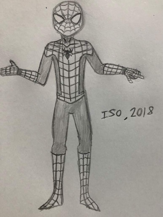 Wonderful Spiderman Pencil Art for Beginners Spiderman Pencil Sketch | Marvel Amino Picture
