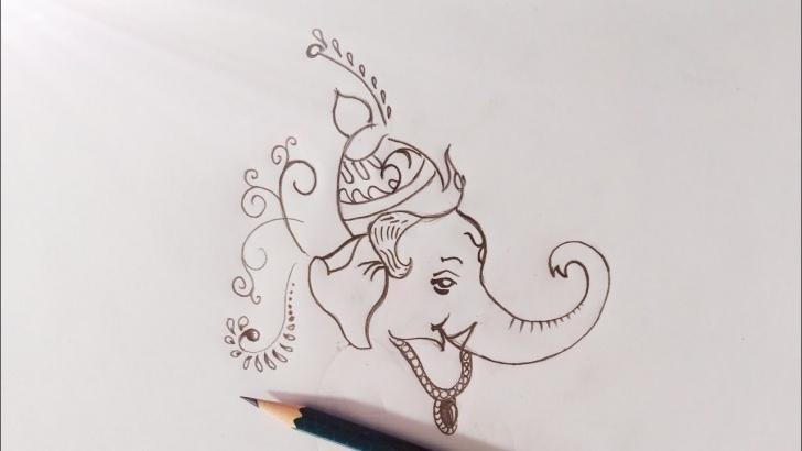Wonderful Vinayagar Pencil Drawing Courses Easy Drawing Ganesha, Vinayaga Chadhurthi Special By Using Pencils Pics