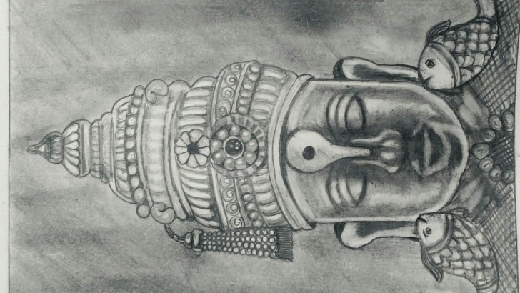 Wonderful Vitthal Pencil Sketch Lessons God Vitthal Simple Drawing By Art4All Image