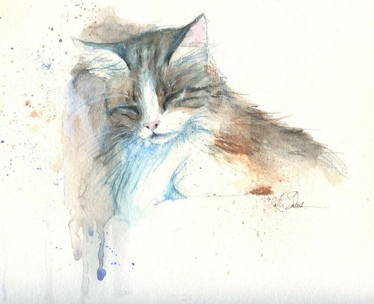 Wonderful Watercolor Pencil Art Free Artists' Journal Workshop: A Single Watercolor Pencilplus   Cats Images